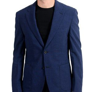 "Hugo Boss ""T-Naiden"" Men's Wool Slim Blue Blazer"